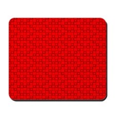 Red Squares Mousepad