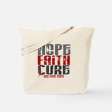 HOPE FAITH CURE AIDS / HIV Tote Bag