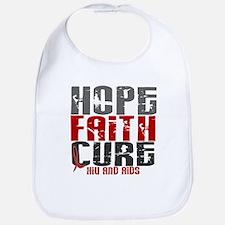 HOPE FAITH CURE AIDS / HIV Bib