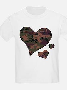 Brown Camo Hearts T-Shirt