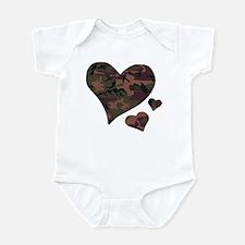 Brown Camo Hearts Infant Bodysuit