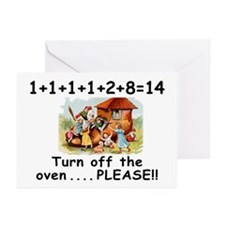 Turn off the Oven Greeting Cards (Pk of 20)