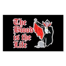 The Blood is the Life Rectangle Sticker 10 pk)