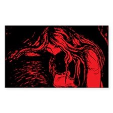 Edvard Munch Vampire Rectangle Decal
