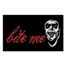 Bite Me Rectangle Decal