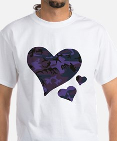 Purple Camo Hearts Shirt