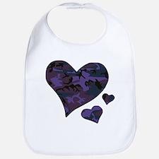 Purple Camo Hearts Bib