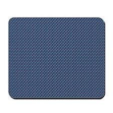 Blue Qbert Pattern Mousepad