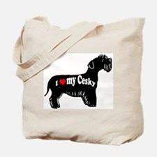cesky terrier love Tote Bag