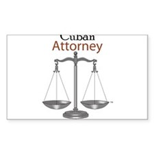 Cuban Attorney Rectangle Decal