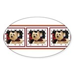 Humphrey 1Tri Oval Sticker (10 pk)