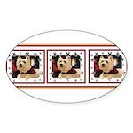 Humphrey 1Tri Oval Sticker