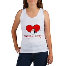 Penguins Lovely Heart Women's Tank Top