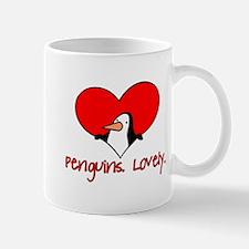 Penguins Lovely Heart Mug