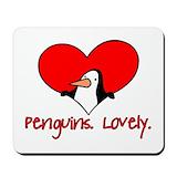 Valentine penguin Classic Mousepad