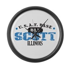 Scott Air Force Base Large Wall Clock