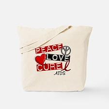 PEACE LOVE CURE AIDS (L1) Tote Bag