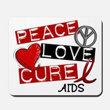 PEACE LOVE CURE AIDS (L1) Mousepad