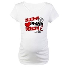 PEACE LOVE CURE AIDS (L1) Shirt