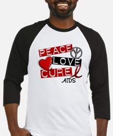 PEACE LOVE CURE AIDS (L1) Baseball Jersey