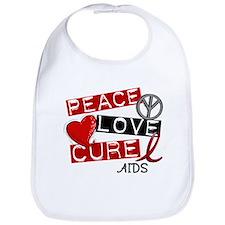 PEACE LOVE CURE AIDS (L1) Bib