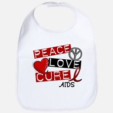 PEACE LOVE CURE AIDS (L1) Bib