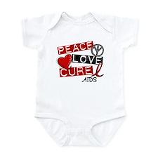 PEACE LOVE CURE AIDS (L1) Infant Bodysuit