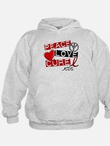 PEACE LOVE CURE AIDS (L1) Hoodie