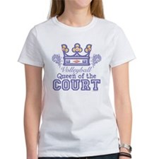 Queen Of The Court Volleyball Tee