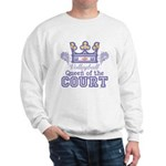 Queen Of The Court Volleyball Sweatshirt