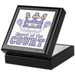 Queen Of The Court Volleyball Keepsake Box