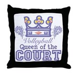 Queen Of The Court Volleyball Throw Pillow