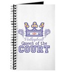 Queen Of The Court Volleyball Journal