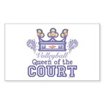 Queen Of The Court Volleyball Rectangle Sticker 1