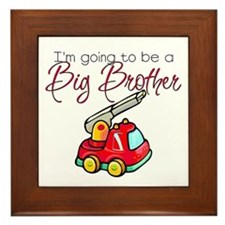 Firetruck Big Brother Framed Tile