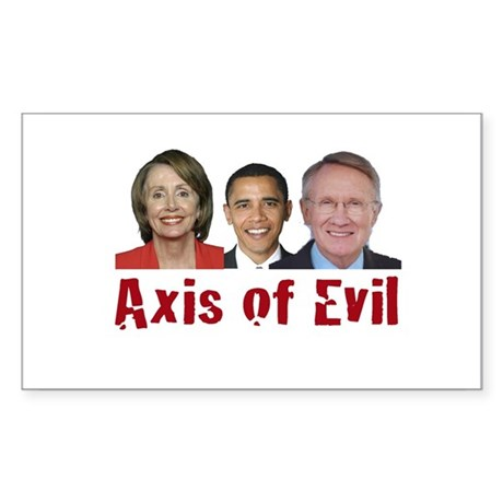 Axis of Evil Rectangle Sticker