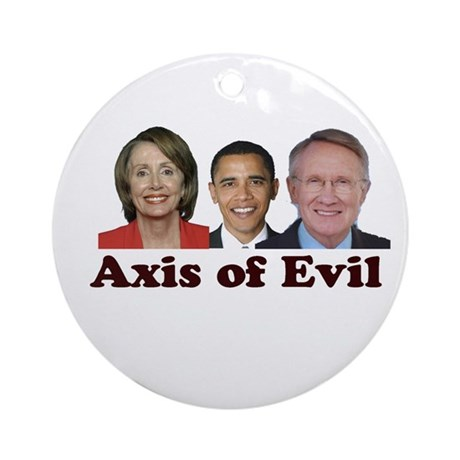 Axis of Evil Ornament (Round)