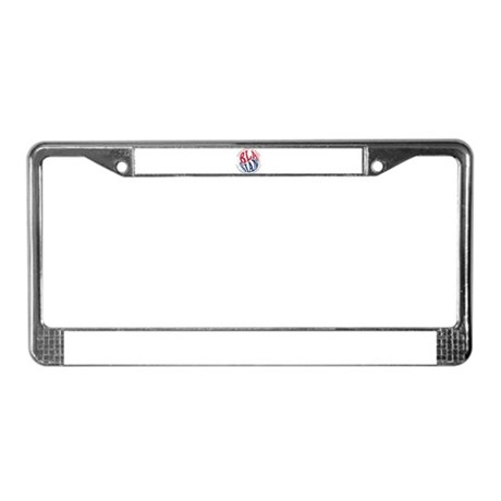 Happiness is Being Blasian License Plate Frame