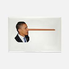 Obama-nocchio Rectangle Magnet