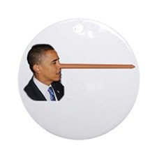 Obama-nocchio Ornament (Round)