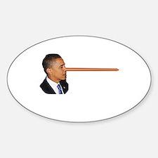 Obama-nocchio Oval Decal