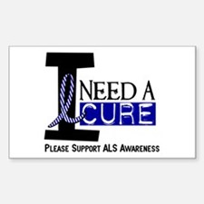 I Need A Cure ALS Rectangle Decal