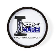 I Need A Cure ALS Wall Clock