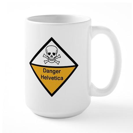 Danger: Helvetica Large Mug
