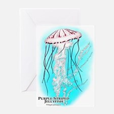 Purple-Striped Jellyfish Greeting Card