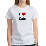 I Love Cats Women's T-Shirt