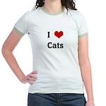 I Love Cats Jr. Ringer T-Shirt