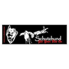 Schutzhund - Get your bite on - Bumper Car Sticker