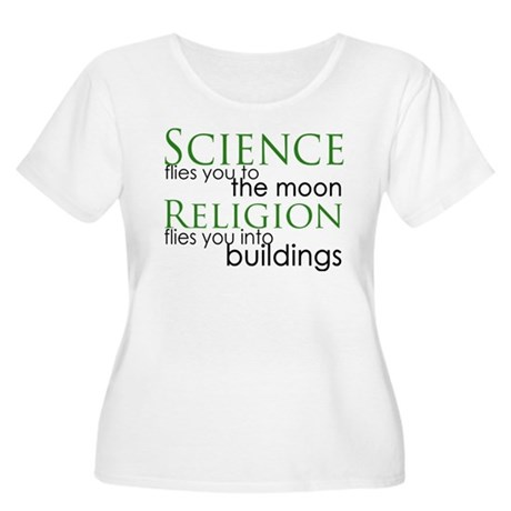 Science and Religion Women's Plus Size Scoop Neck