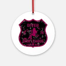 Diver Diva League Ornament (Round)